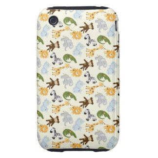 Jungle Animals Pattern iPhone 3 Tough Cover