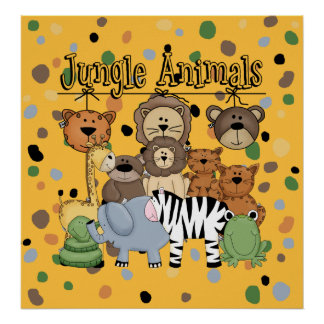 Jungle Animals Poster