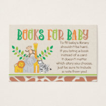Jungle Animals Safari Baby Shower Book Request