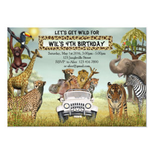 Safari Invitations Announcements Zazzle