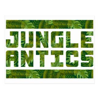 Jungle Antics Bold Tropical Text Postcard