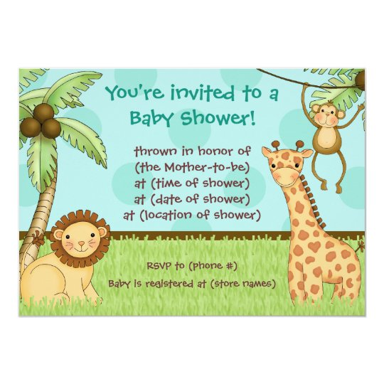 Jungle Babies - Baby Shower Invitation