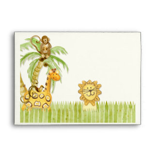 Jungle Babies, Boy Baby Shower Envelopes