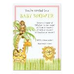 "Jungle Babies, Boy Baby Shower Invitation - Green 5"" X 7"" Invitation Card"
