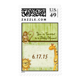 Jungle Babies, Boy Baby Shower Postage