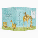 Jungle Babies, Giraffe Baby Book Binder Scrapbook