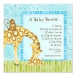 Jungle Babies, Giraffe Baby Shower Invitation