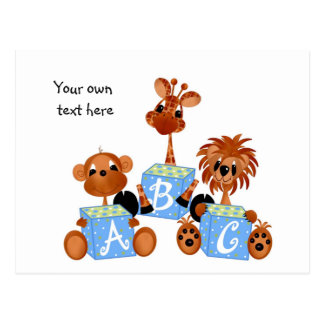 Jungle Babies Postcard All Occasion