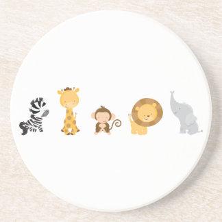 Jungle Babies Sandstone Coaster