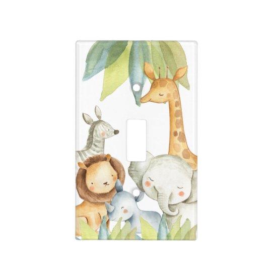 Jungle Baby Animals Safari Nursery Light Switch Cover