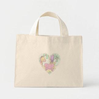 Jungle Baby Heart 13- Customized Mini Tote Bag