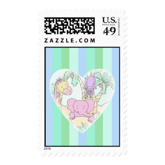 Jungle Baby Heart Blessings- boy Postage