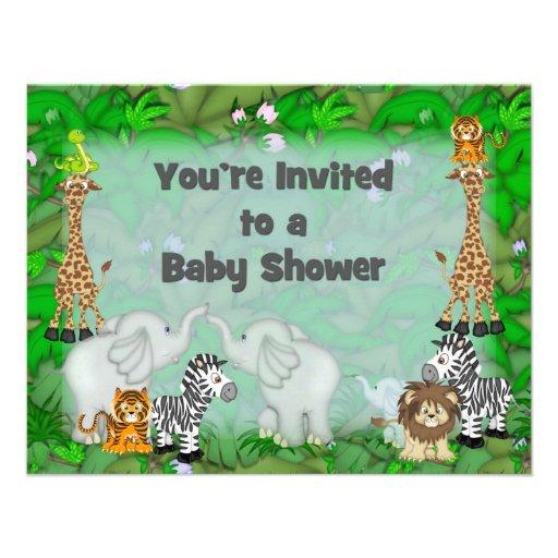 jungle baby shower invitation zazzle