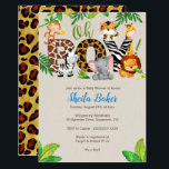 "Jungle Baby Shower Invitation - Boy Baby Shower<br><div class=""desc"">Oh Boy! Go Wild for this jungle animal-themed baby shower invitation.  A color scheme of blues,  greens and browns,  is perfect for anyone expecting a baby boy.</div>"
