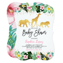 Jungle Baby Shower Invitation Tropical Baby Shower