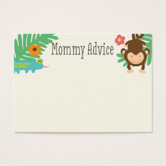 Jungle Baby Shower Mommy Advice Cards