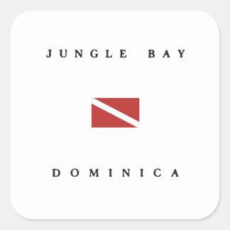 Jungle Bay Dominica Scuba Dive Flag Square Sticker