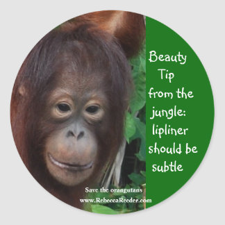 Jungle Beauty Tips Classic Round Sticker