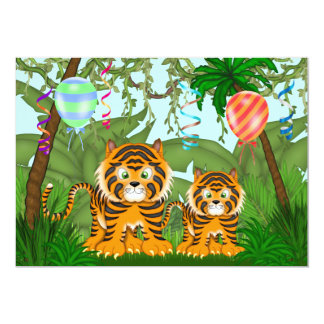 Jungle Bengal Tiger Baby Shower Invitation