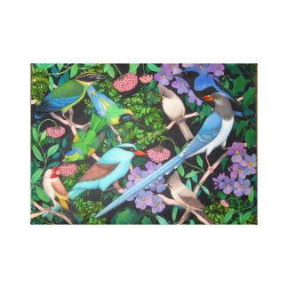 Jungle Birds of Asia Wrapped Canvas