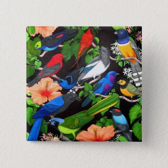 Jungle Birds of Mexico Button
