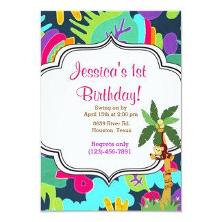 Jungle Birthday 3.5x5 Paper Invitation Card