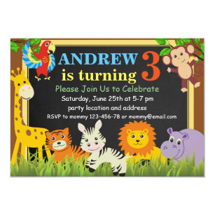 Jungle birthday invitations announcements zazzle jungle birthday invitationsafari birthday invite filmwisefo
