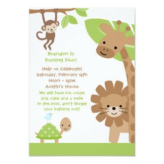 Jungle Birthday Party Invitation