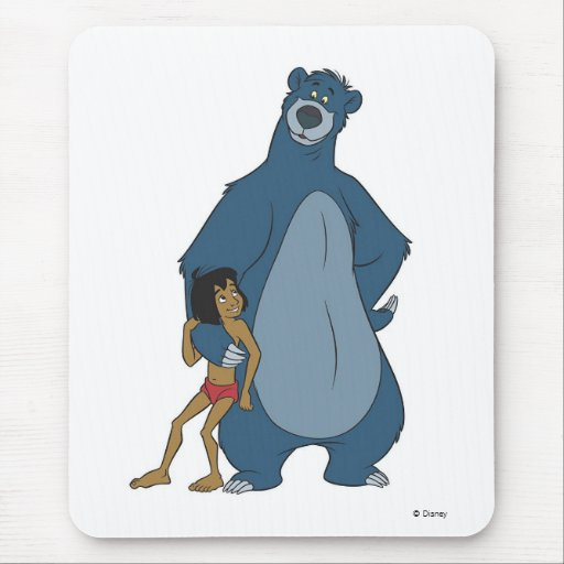 Jungle Book Baloo And Mowgli Standing Disney Mouse Pad
