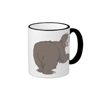 "Jungle Book Baloo bear dancing  ""follow me friend"" Ringer Coffee Mug"