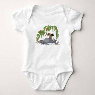 Jungle Book Baloo holding up Mowgli  Disney Baby Bodysuit