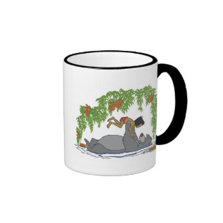 Jungle Book Baloo holding up Mowgli  Disney Ringer Coffee Mug