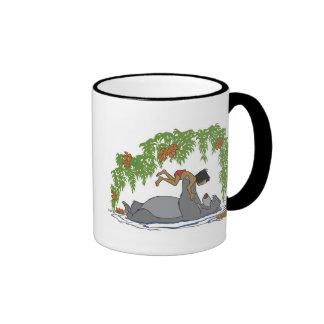 Jungle Book Baloo holding up Mowgli  Disney Ringer Mug