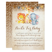 Jungle Book Request Card, Elephant Books For Baby Invitation