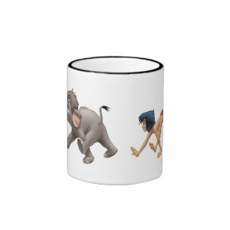 Jungle Book's Mowgli and Baby Elephant marching Mug