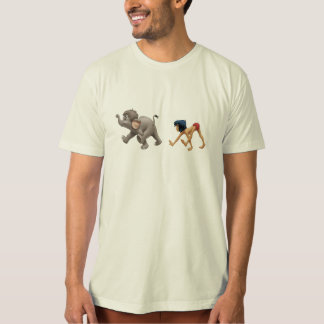 Jungle Book's Mowgli and Baby Elephant marching T Shirt