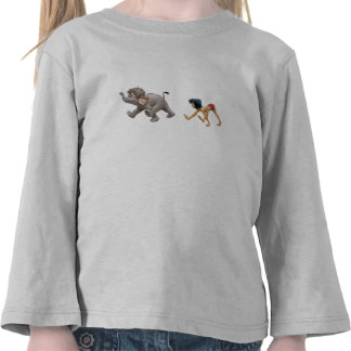 Jungle Book's Mowgli and Baby Elephant marching Tees
