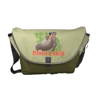Jungle Book's Mowgli and Baloo Hugging Courier Bag