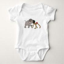 Jungle Book's Mowgli With Baby Elephant Disney Baby Bodysuit