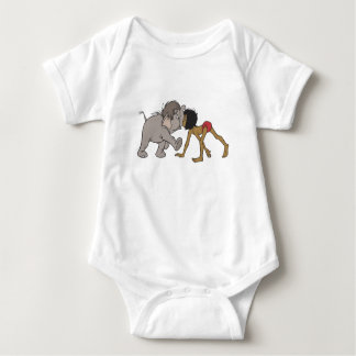 Jungle Book's Mowgli With Baby Elephant Disney Baby Bodysuit