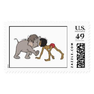 Jungle Book's Mowgli With Baby Elephant Disney Postage