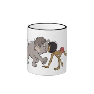 Jungle Book's Mowgli With Baby Elephant Disney Ringer Coffee Mug