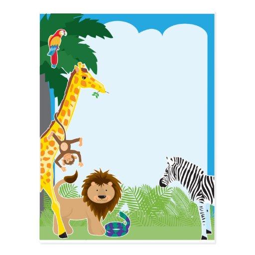 Jungle Paper Border Jungle border post card