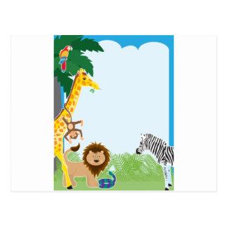 Jungle Border Postcard
