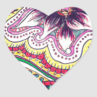 Jungle Botanical Heart Sticker