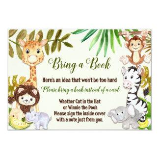 Jungle Bring a book Card, Safari Bring a Book Card