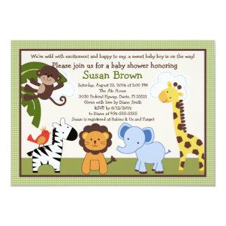 Jungle Buddies/Animals Baby Shower Invitation