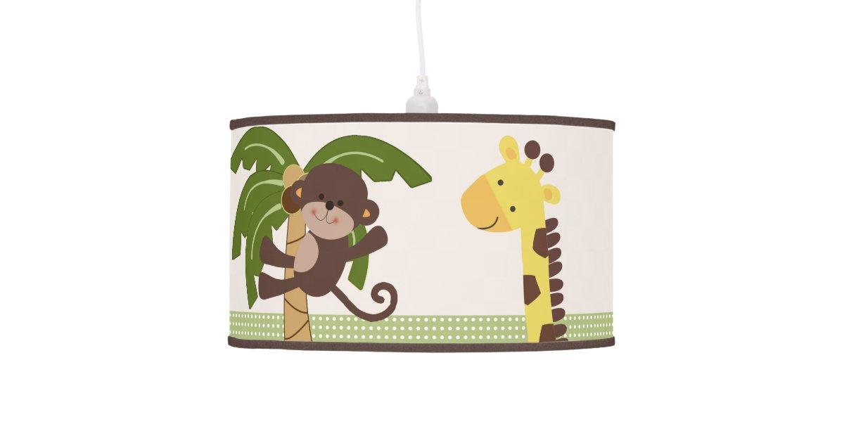 jungle buddies friends pals nursery lamp zazzle. Black Bedroom Furniture Sets. Home Design Ideas