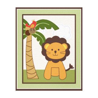 Jungle Buddies/Pals/Friends Lion Canvas Art Canvas Print