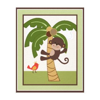 Jungle Buddies/Pals/Friends Monkey Canvas Art Canvas Print